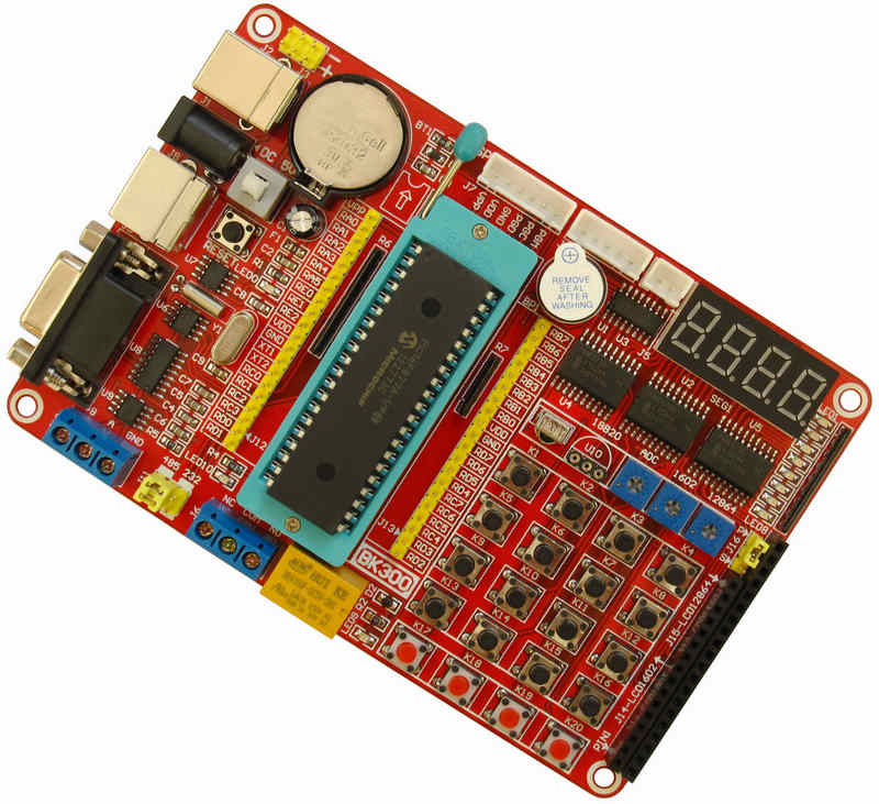 PIC Development Board Single Chip Microcomputer Learning Board PIC16F877A Development Board Experimental Board