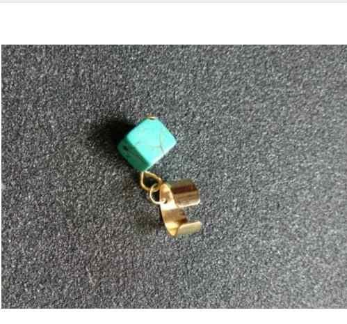 2018 moda Vintage geométrico azul piedra cuadrada sin agujero de oreja clip elegante joyería hombre y mujer oreja clip 1 piezas