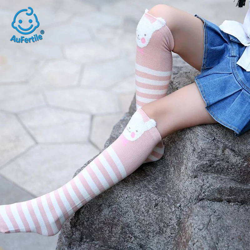 2018 Cute Cartoon Children Sock Lovely Cat Ears for Baby Girls Children Long Socks Anima ...