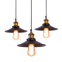 Loft American Vintage Pendant Lights Copper Lamp Holder E27 110 220V Antique Pendant Lamp For Home