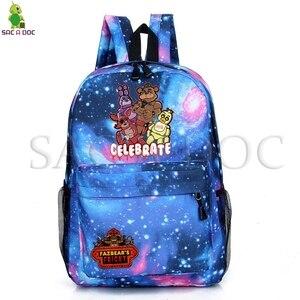 خمس ليال في فريدي فريدي غالاكسي الفضاء مدرسة حقيبة الظهر المراهقات الفتيان اليومية على ظهره عارضة حقيبة للسفر