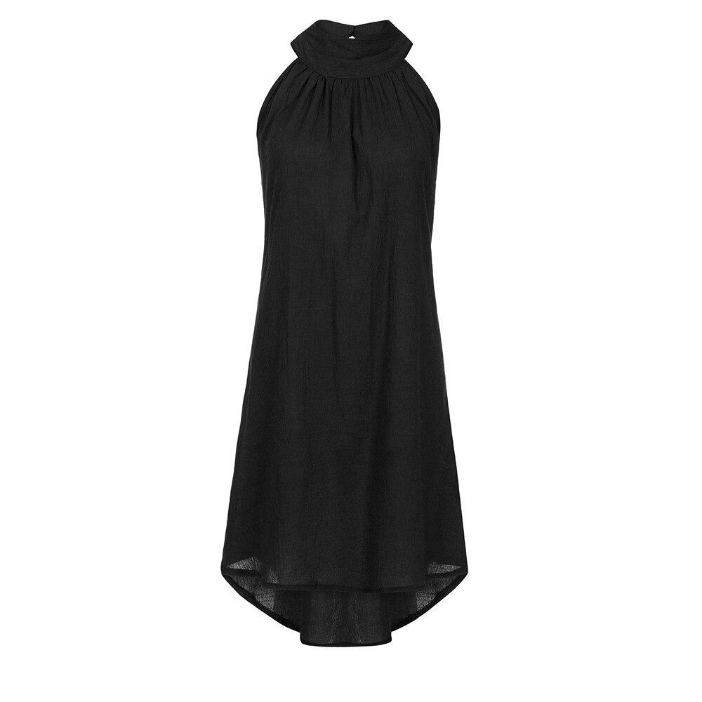 HTB10BqkasfrK1Rjy1Xdq6yemFXay Womens Holiday Irregular Dress Ladies Summer Beach Sleeveless Party Dress vestidos verano 2018 New Arrival dresses for women