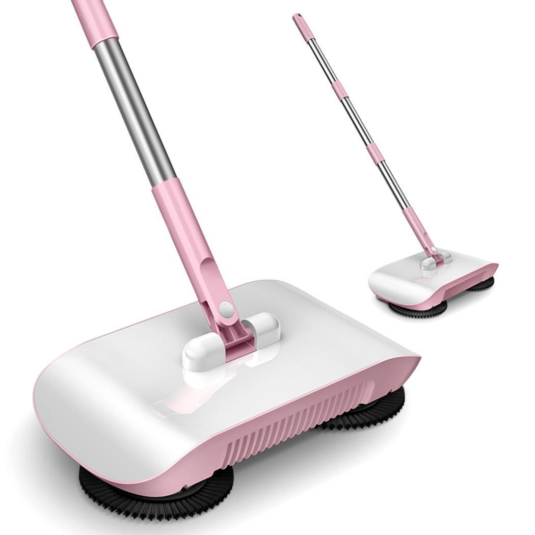 2 in 1 Hand Push Home Sweeper Broom Dustpan Set Vacuum Cleaner title=