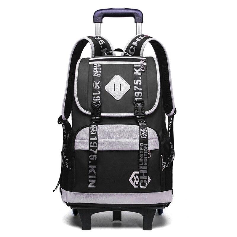 2/6 колеса вагонетки детей рюкзаки Мальчики школьный Дети Школьные сумки Чемодан мешок grils колеса рюкзак для путешествий прокатки рюкзак