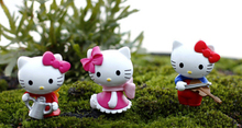6pcs/lot mini animals resin Cat Cartoon 2X3cm fairy garden decor crafts