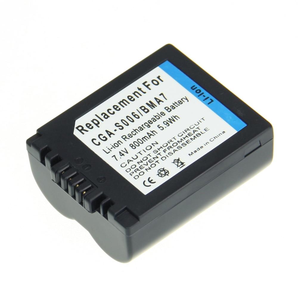 Hot Sale CGA-S006E CGR S006E CGR-S006A /1B BP-DC5U Camera battery For PANASONIC Lumix DMC for PANASONIC CGAS006E CGRS006E z1 1pcs cga s006 cga s006ebattery charger car charger for panasonic cgr s006a 1b bp dc5u cgr s006e