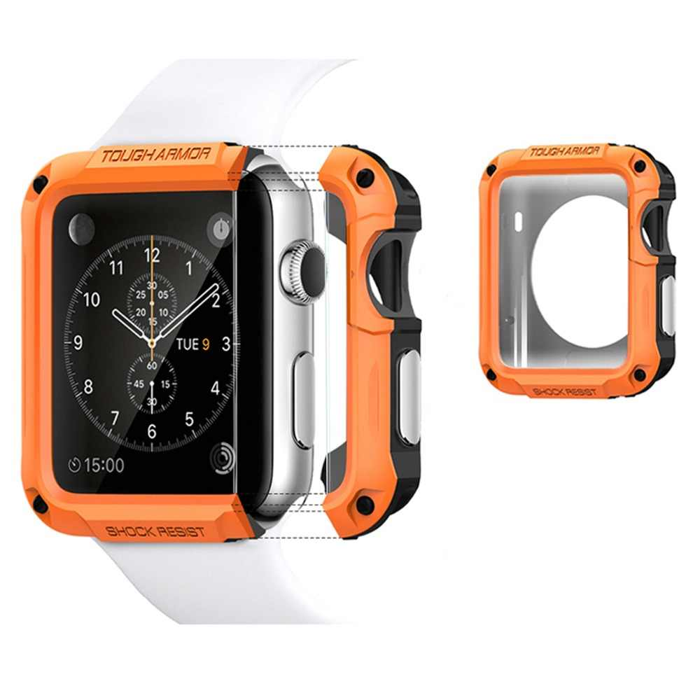 SGP Combination Silicone Case For Apple Watch Series 4 44mm 40mm Polishing Watch Case For Iwatch 4 Full Protection Case