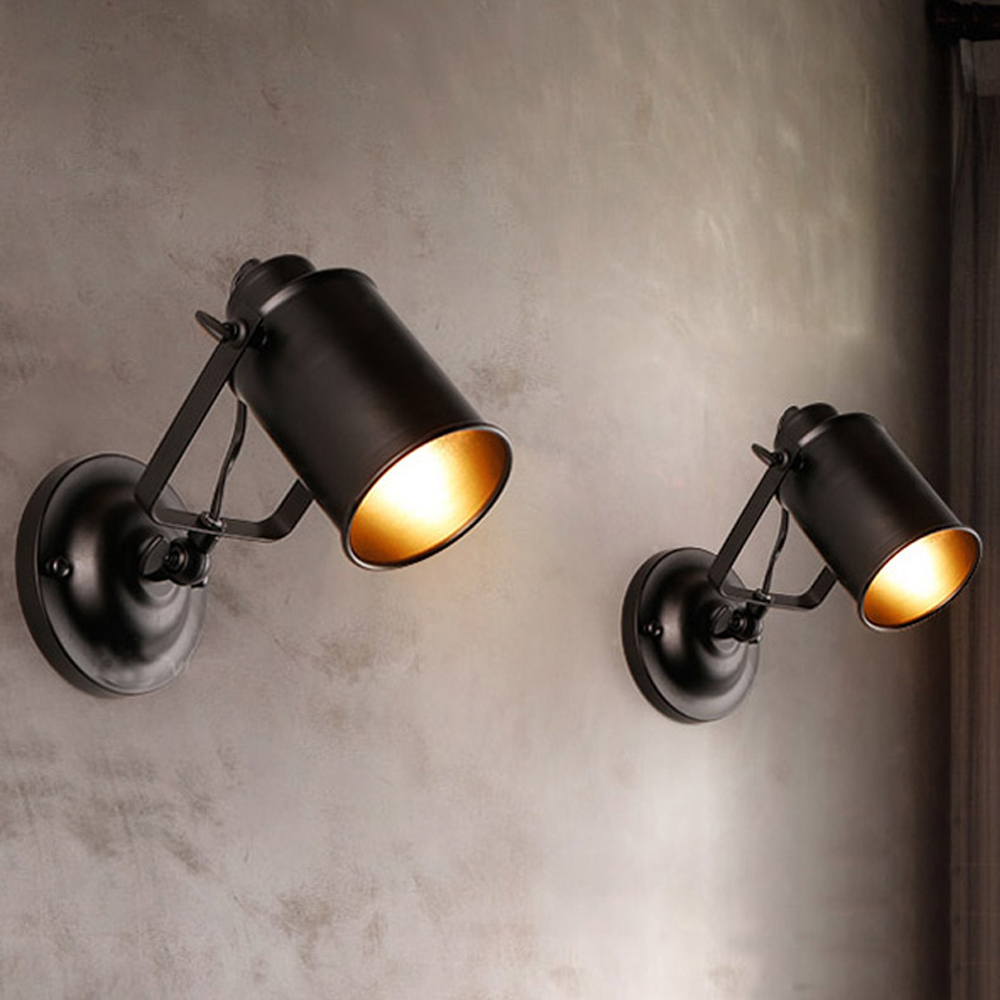 Modern Led Wall Sconces Lighting Black Wrought Iron