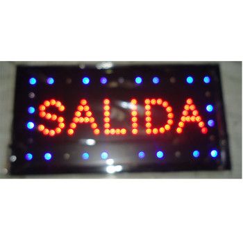 2017 direct selling customed 10X19 inch semi-outdoor Ultra Bright running salida led Neon open lighted Sign
