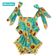 Medoboo Summer Baby Rompers For Girl Clothes Print Straps Sleeveless Newborn Sunsuit Bodysuit One-Pieces Jumpsuit Romper 10