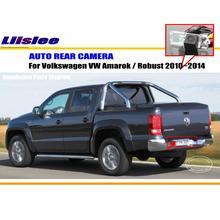 Cámara Posterior del coche Para Volkswagen VW Amarok/Robusto 2010 ~ 2014/Back estacionamiento de La Cámara/CCD HD RCA NTST PAL/Lámpara de La Matrícula OEM