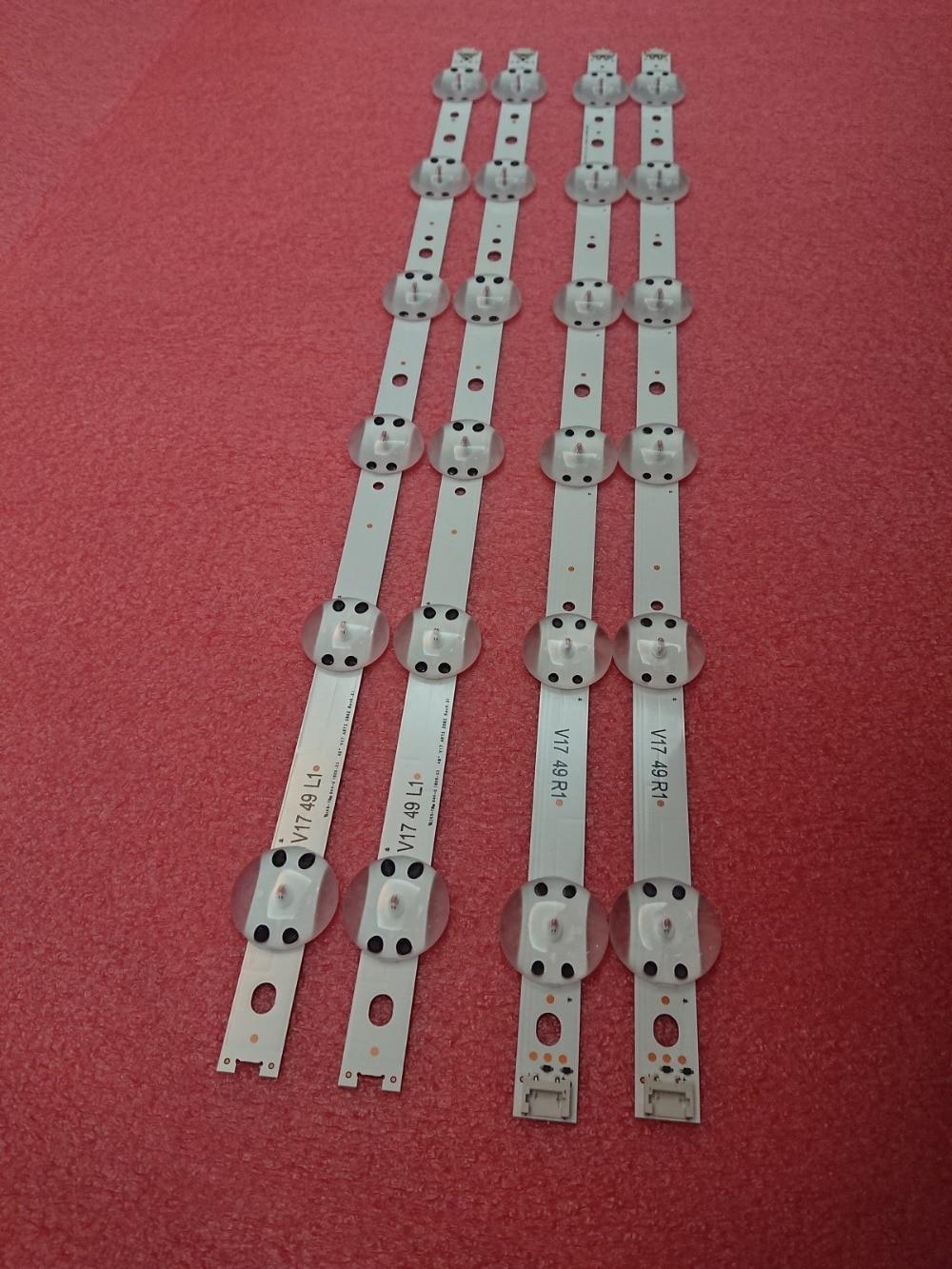 Nouveau 10 set = 40 pièces LED bande Pour LG 49UV340C 49UJ6565 49UJ670V V17 49 R1 L1 ART3 2862 2863 6916L 2862A 6916L 2863A-in Pièces de rechange et accessoires from Electronique    2
