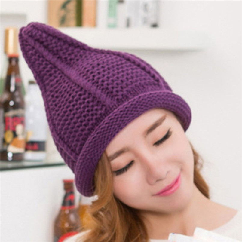 Ladies Fashion Women Warm Cute Pacifier Cap Shape Winter Plus Solid Slouchy Knit Hat Popular Hats For Women 30NV29 (20)
