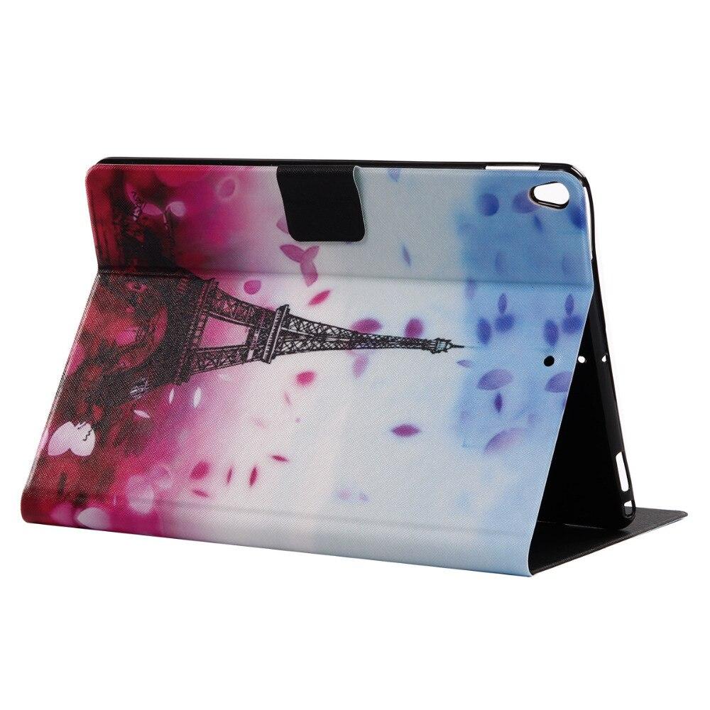 Ультра тонкий черный мягкий ТПУ печати Folio Stand искусственная кожа В виде ракушки рукавом сумка-чехол для Apple iPad Pro 10.5 10.5 Планшеты