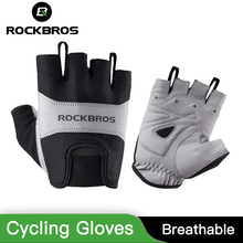 ROCKBROS Cycling Gloves Winter Half Finger Bike Gloves Breathable Mountain Road Bicycle Men Sport Gloves Mountain Bike Gloves half mountain