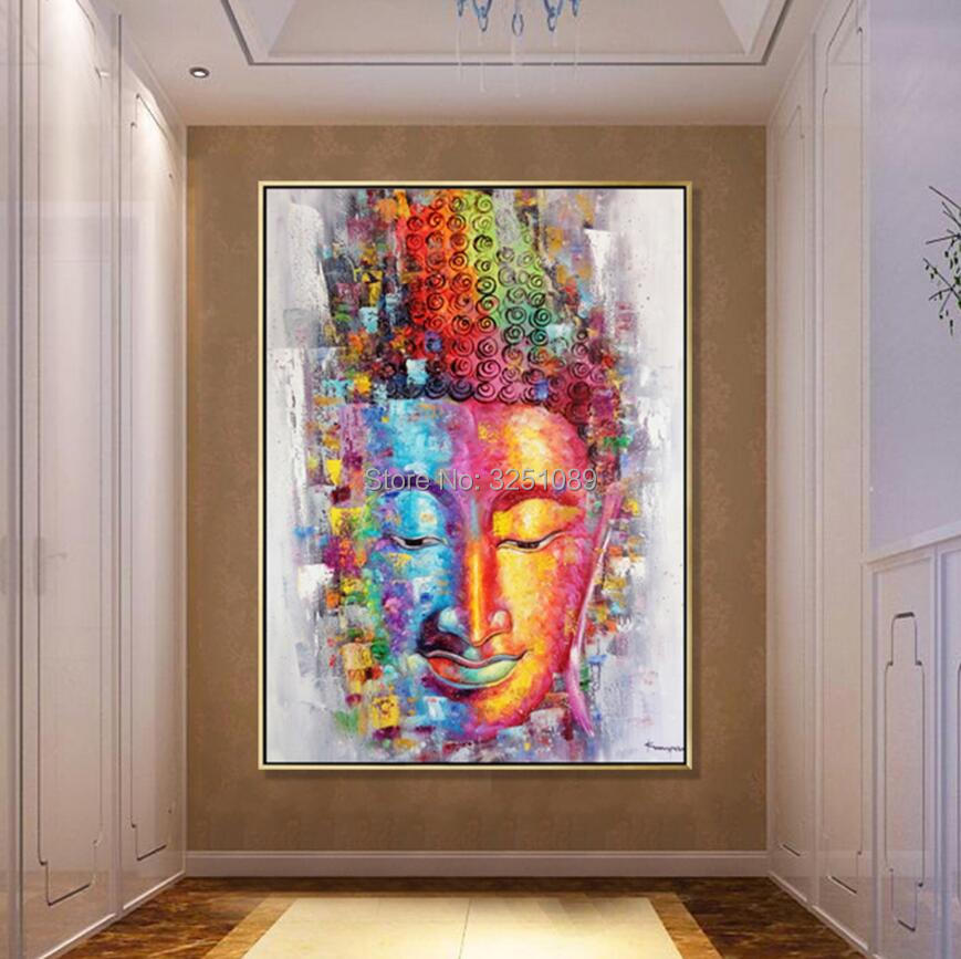 Trusted Home Painting Services In India: Hand Painted Large Modern Buddha Paintings Fashion Color