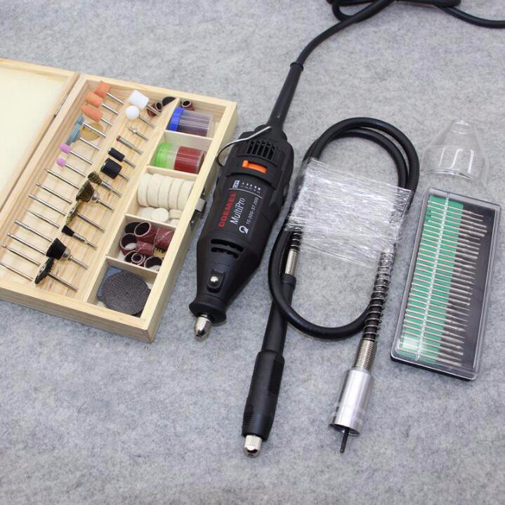 Hardware Variable Speed Rotary Tool,Mini Drill,with 130pcs Accessories Flexible tube shaft & practical gift Free Shipping hilda 400w mini electric drill with 6 position variable speed dremel rotary tools with flexible shaft and 94pcs accessories