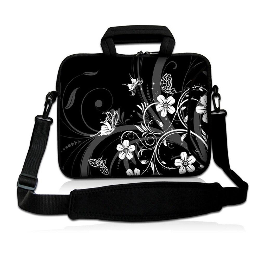 Portable 12 Shoulder Laptop Bags 11.6 12.1 Protective Handbag Tablet Netbook Mini PC Shockproof Flower Notebook Bag For Women