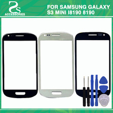 """S3 mini front glass lens For Samsung Galaxy S3 mini i8190 8190 4.0""""Touch Screen Front Sensor Glass Lens With Tools"""