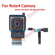 Original tested Big Rear Back camera & small front Facing Camera Flex Cable Module for Samsung Galaxy Note 4 N910F N910C N9100