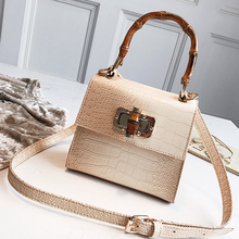 Fashion Crocodile Pattern Bags Chic Alligator Women Handbags Bambootop Handle Small Flap Crossbody Bag For  Purses
