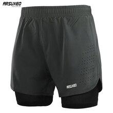 ARSUXEO Shorts de course pour hommes 2 en 1 Shorts de Sport à séchage rapide entraînement athlétique Fitness pantalons courts Shorts de Sport vêtements dentraînement B179