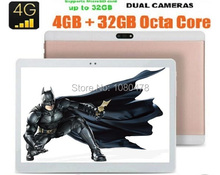 10 pulgadas 3G 4G tablet Octa core 1920*1200 IPS HD de 8.0MP 4 GB RAM 32 GB ROM Android 6.0 GPS de la tableta 10 10.1 + Regalo libre gratis