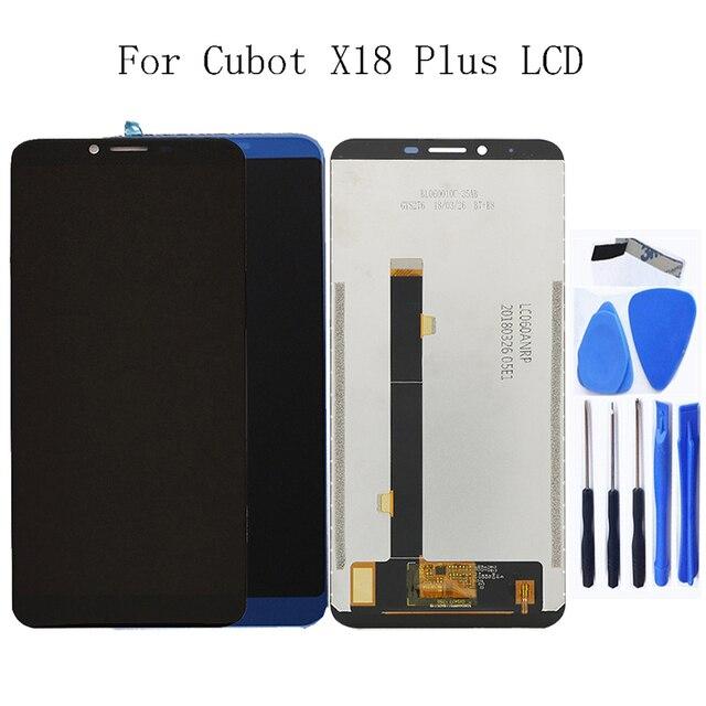 """5.99 """"ل Cubot X18 زائد LCD + شاشة تعمل باللمس محول الأرقام ل Cubot X18 زائد 100% اختبار العمل LCD لوحة استبدال + أداة مجانية"""