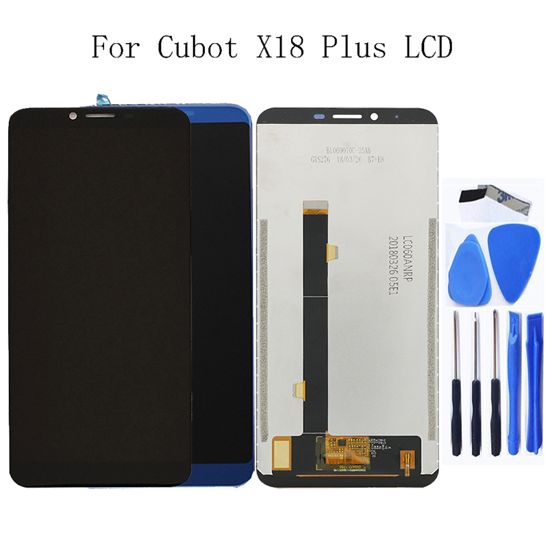 "5.99"" for Cubot X18 Plus LCD + touch screen digitizer for Cubot X18 Plus 100% tested work LCD panel replacement + Free tool-in Mobile Phone LCD Screens from Cellphones & Telecommunications"