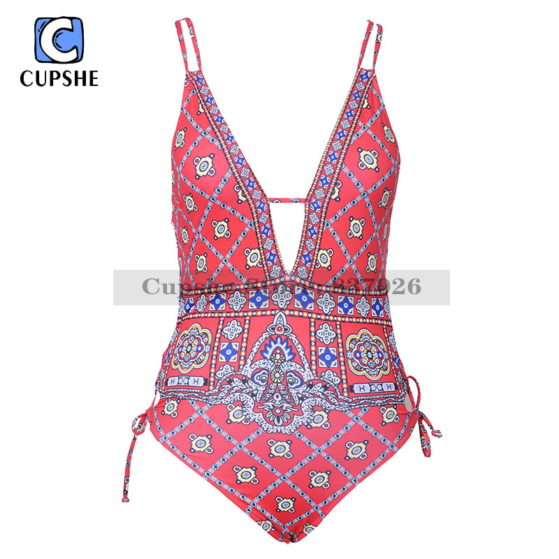 CUPSHE Waiting For The Sun One-piece Swimsuit Women Summer Sexy Swimsuit Ladies Beach Bathing Suit swimwear Купальник