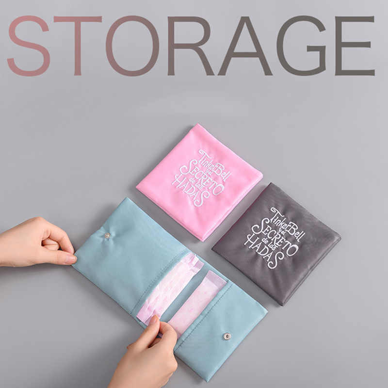 4 Color Women Cute Sanitary Storage Bags Pads Organizer Purse Holder Napkin Towel Storage Bags Girl Napkin Bag Pouch Case Top