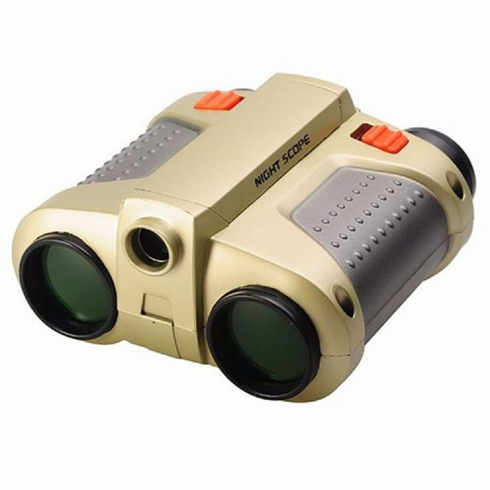 Behogar 4x30 Binocular Telescope telescopio binoculo Pop-up Light Night Vision Scope Binoculars Novelty Children Kid Toys Gifts