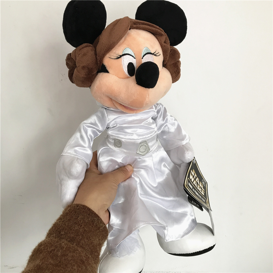 1pcs 30cm Star Wars Leia drss up minnie mouse Plush Toy Leia princess minnie mouse Stuffed Toy Doll For Birthday Christmas Gift