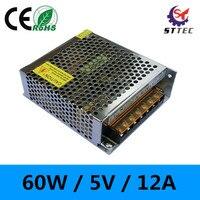 High Quality 60W 110V 220V To 5V 12A LED Power Supply Adaptor Transformer For Led Strip