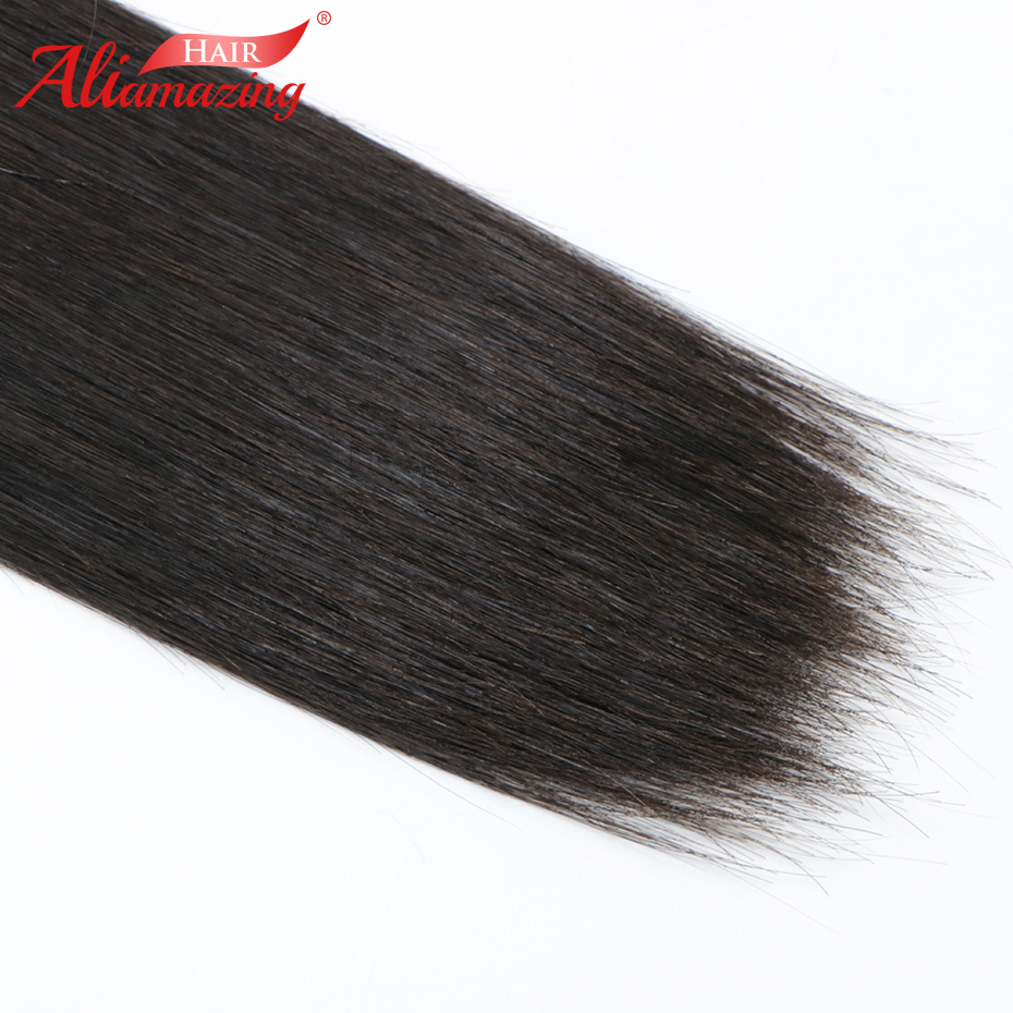Ali Amazing Hair Peruvian Silky Straight Hair Bundles 1 Piece 100% Remy Human Hair Bundles Extensions Double Weft Free Shipping - 5
