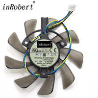 Everflow 85MM T129215SU 4Pin Cooling Fan Replace For ASUS GTX 460 560 GTX  960 Mini RX570 HD 6790 6870 Graphics Card Cooler Fans