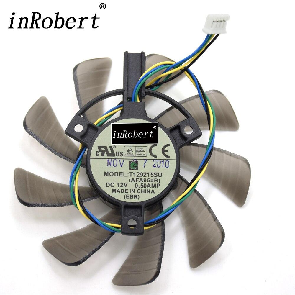 Everflow 85mm T129215SU 4Pin ventilador de refrigeración para reemplazar ASUS GTX 460 de 560 GTX 960 Mini RX570 HD 6790 de 6870 tarjeta de gráficos refrigerador Fans