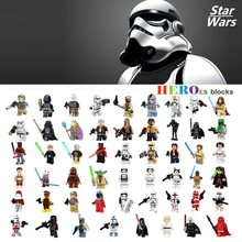 Single Star Wars Stormtrooper Darth Vader Han Solo Building Blocks Jedi Yoda Obi Wan Figure Brick Toy kid gift Compatible Legoed(China)