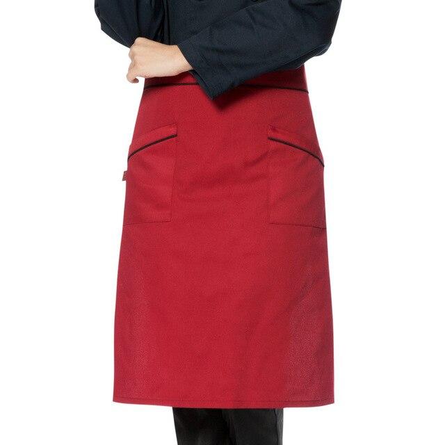 Korean Men'S Half Chef Apron Cute Coffee Restaurant Home Cooking