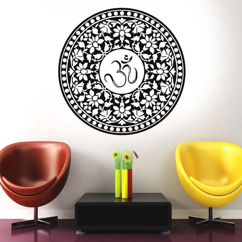 Large big size Om symbol mandala decal hot room decoration waterproof vinyl sticker adhesive wallpaper modern murals MA 06