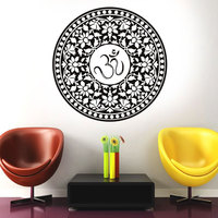 Large big size Om symbol mandala decal hot room decoration waterproof vinyl sticker adhesive wallpaper modern murals MA 06