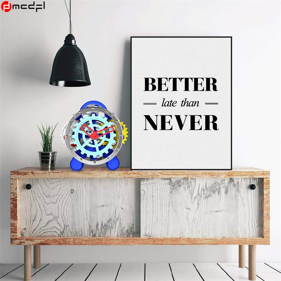 Casa Moderne And Design.Home Decoration Moving Gear Table Clock Moderne Design Desk Clock