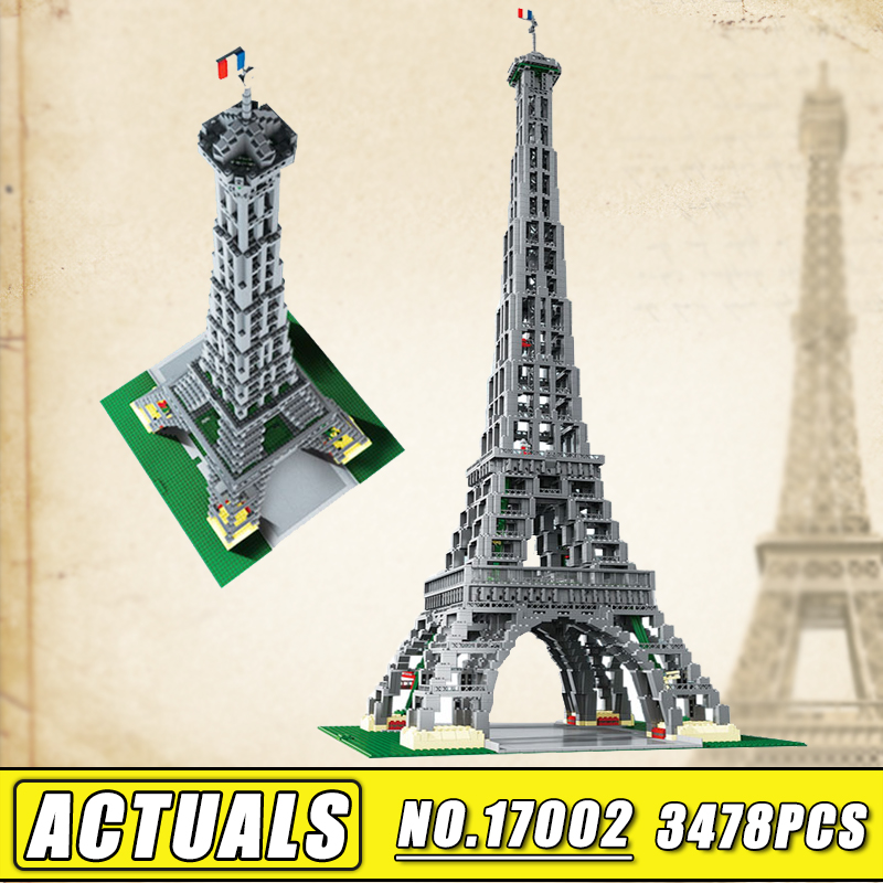 2018 New LEPIN 17002 City MOC Creator Series the Eiffel Tower Model Building Assembling Brick Toys Compatible 10181 Children Toy a toy a dream lepin 24027 city series 3 in 1 building series american style house villa building blocks 4956 brick toys
