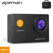 Apeman Action Camera A70 1080p Wifi Action Cam hd Underwater Waterproof Sport Video Camera With New Camera Case One Battery