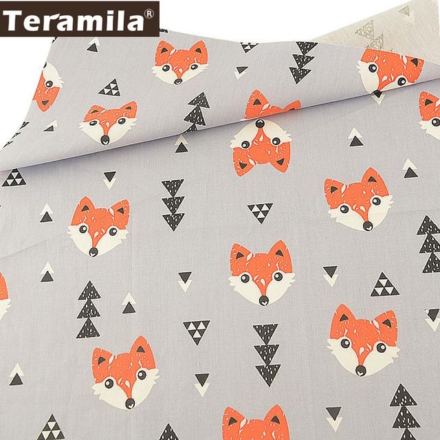 Teramila Grey Tissu Tecido Material Animals Style Quilting Twill DIY Craft 100% Cotton Sewing Fabric Tela Scrapbooking