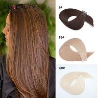 Sobeauty лента в Remy человеческих волос для наращивания 18 до 22 дюймов 20 шт 50 шт/уп шелковистая прямая прядь ПУ бесшовная Кожа Уток коричневый цвет