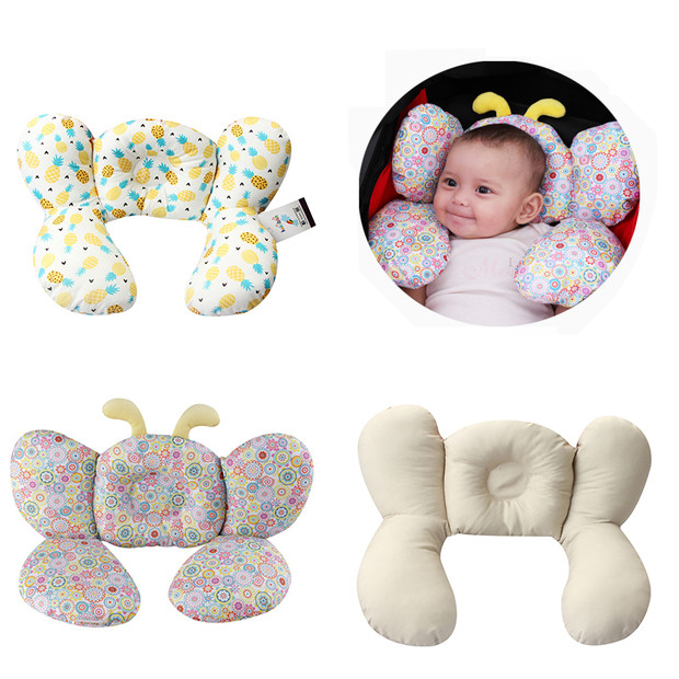 Bee Shape Baby Head Support Pillow Stroller Neck Protection Headrest Infant Toddler Car Safety Seat Soft Sleeping Pillow