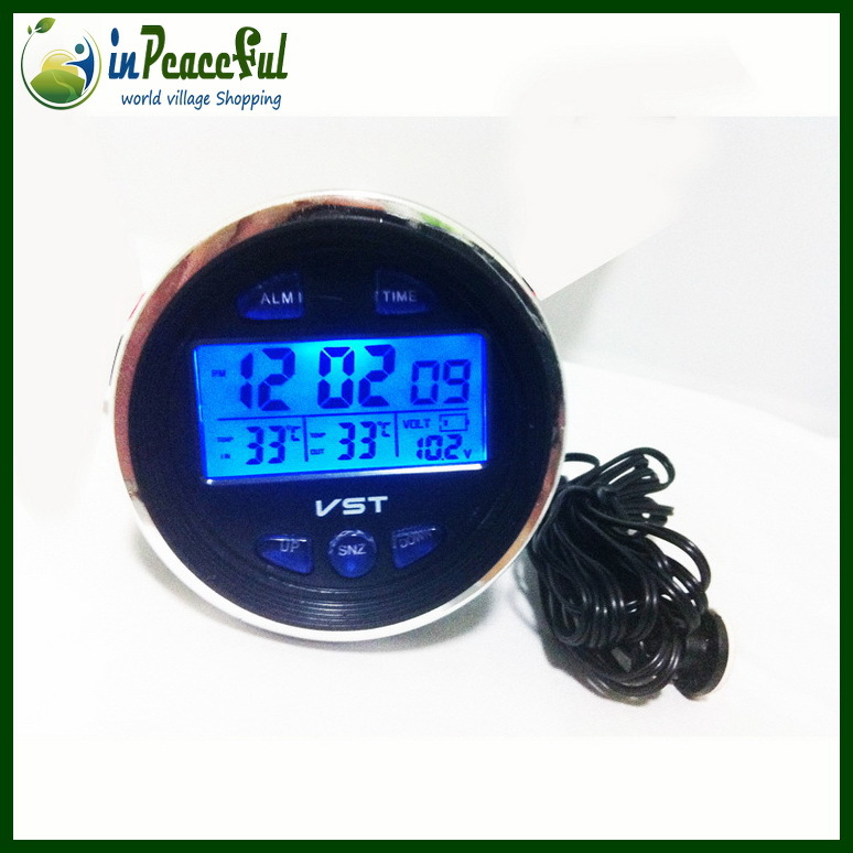 Car Battery Voltage Meter : Free shipping lada car digital auto thermometer