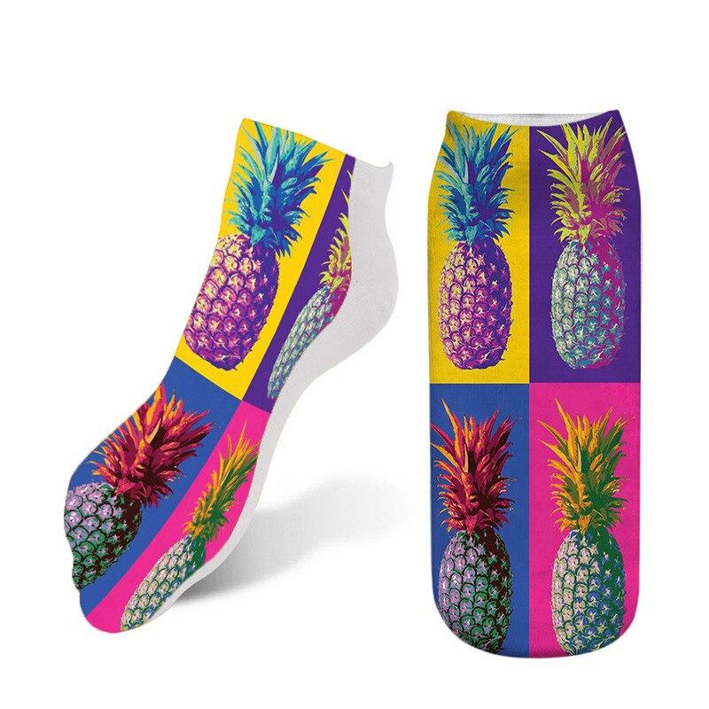 NEW 3D Creative Art Printed Sock Unisex Women Men Funny Starry night sky Printing socks cotton female Ankle short Socks 7S-ZAS13