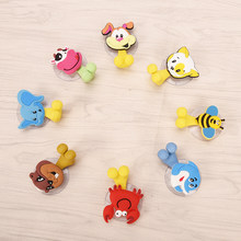 Animal Cute Dog Cat Cow Cartoon Suction Cup Toothbrush Holder Bathroom Accessories Set 12 Colors Wall Suction Holder Tool(China)